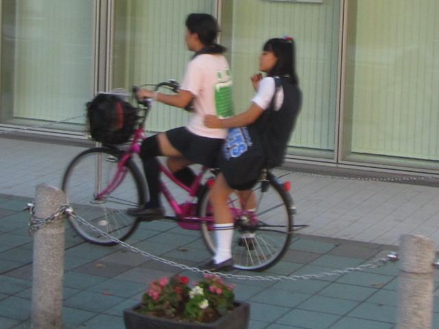 $クソみてえなウンコのアメブロ批評akb富士山 自転車2人乗り女子高生の後ろのJKが(°皿 °)